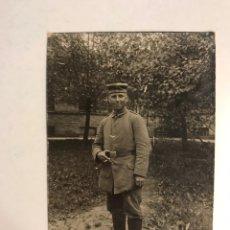 Militaria: MILITAR. I GUERRA MUNDIAL??, FOTOGRAFÍA SOLDADO, TARJETA POSTAL (H.1910?). Lote 185878087