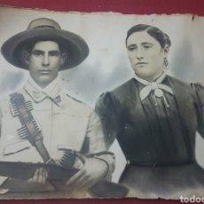 Militaria: ANTIGUA GRAN FOTOGRAFIA SOLDADO FILIPINAS O CUBA ULTRAMAR 1893. Lote 186256355