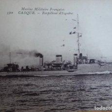 Militaria: POSTAL MARINE MILITAIRE FRANCAISE. CASQUE TORPILLEUR D ESCADRE. Lote 186261180