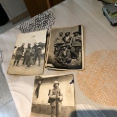 Militaria: LOTE DE 3 TARJETAS POSTALES MILITARES ANTIGUAS - VER LAS FOTOS. Lote 186367647