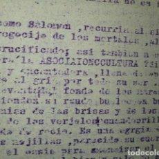 Militaria: LO QUE PUEDE LLEGAR A SER NUESTRA ASOCIACION - CULTURA ORIGINAL DE CARLOS HERRERO MUÑOZ. Lote 186370253