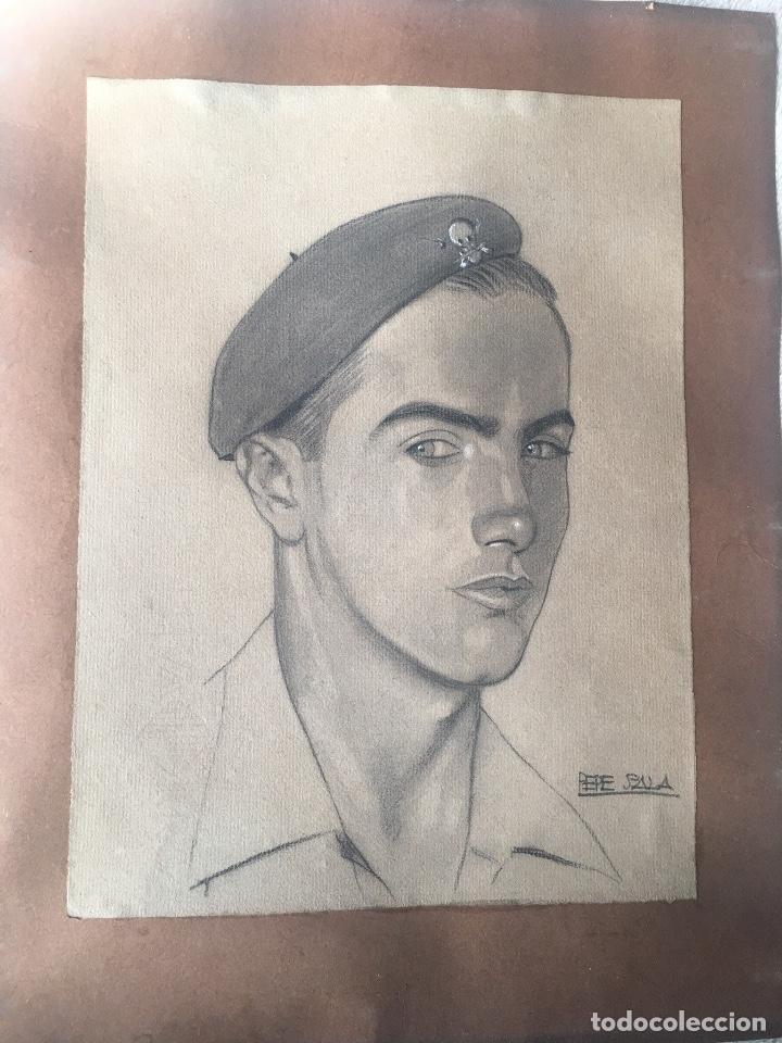 Militaria: Carboncillo original de Pepe Salas de un Tanquista de La Legion Condor - Foto 2 - 186426670