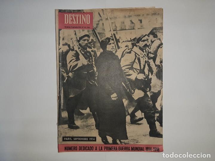 REVISTA DESTINO Nº1414 AÑO 1964 NUMERO DEDICADO PRIMERA GUERRA MUNDIAL 1914 1918 PUBLICIDAD PEGASO (Militar - Fotografía Militar - I Guerra Mundial)