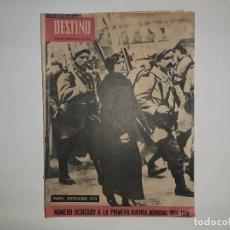 Militaria: REVISTA DESTINO Nº1414 AÑO 1964 NUMERO DEDICADO PRIMERA GUERRA MUNDIAL 1914 1918 PUBLICIDAD PEGASO. Lote 187108287