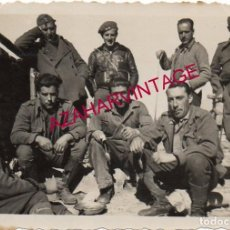 Militaria: GUERRA CIVIL, SOLDADOS EL FRENTE DE CASTELLON, 88X60 MM. Lote 187168192