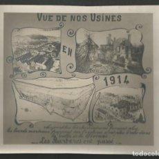 Militaria: FOTOGRAFIA ORIGINAL MILITAR VISTA NUESTRAS FABRICAS EN 1914 VALLE DE GIVONNE FRANCIA TMAÑO GRANDE. Lote 187314200