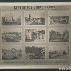 Militaria: FOTOGRAFIA ORIGINAL MILITAR VISTA DE NUESTRAS FABRICAS EN 1920 VALLE DE GIVONNE FRANCIA - ALEMANIA. Lote 187314607