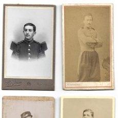 Militaria: LOTE 4 CARTE DE VISITE DE MILITARES FRANCESES PRINCIPIOS SIGLO XX - CHATEAUNEUF, PANAJOU Y REYNES. Lote 187324010
