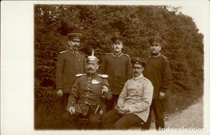 ORIGINAL - FOTOGRAFÍA POSTAL SOLDADOS ALEMANES. I GUERRA MUNDIAL. ALEMANIA. PICKELHAUBE - OFICIALES (Militar - Fotografía Militar - I Guerra Mundial)