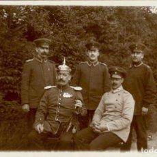 Militaria: ORIGINAL - FOTOGRAFÍA POSTAL SOLDADOS ALEMANES. I GUERRA MUNDIAL. ALEMANIA. PICKELHAUBE - OFICIALES. Lote 187371830