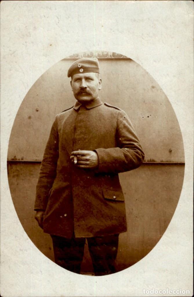 ORIGINAL - FOTOGRAFÍA POSTAL SOLDADO ALEMAN. I GUERRA MUNDIAL. ALEMANIA - EJERCITO IMPERIAL (Militar - Fotografía Militar - I Guerra Mundial)