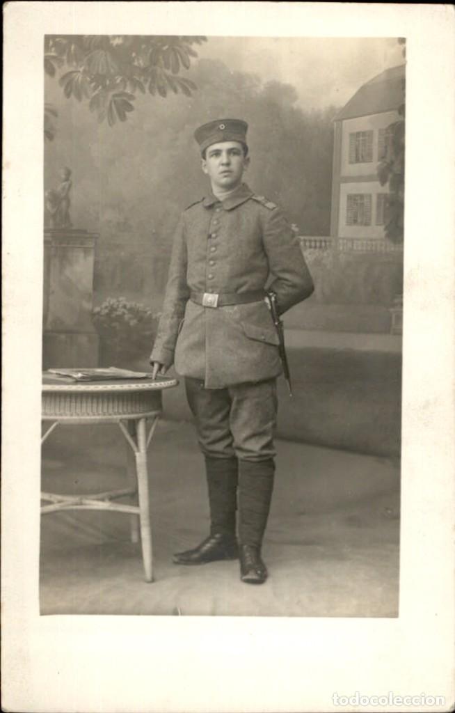 ORIGINAL - FOTOGRAFÍA POSTAL SOLDADO ALEMÁN. I GUERRA MUNDIAL. ALEMANIA - EJÉRCITO IMPERIAL BAYONETA (Militar - Fotografía Militar - I Guerra Mundial)