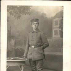 Militaria: ORIGINAL - FOTOGRAFÍA POSTAL SOLDADO ALEMÁN. I GUERRA MUNDIAL. ALEMANIA - EJÉRCITO IMPERIAL BAYONETA. Lote 187372565