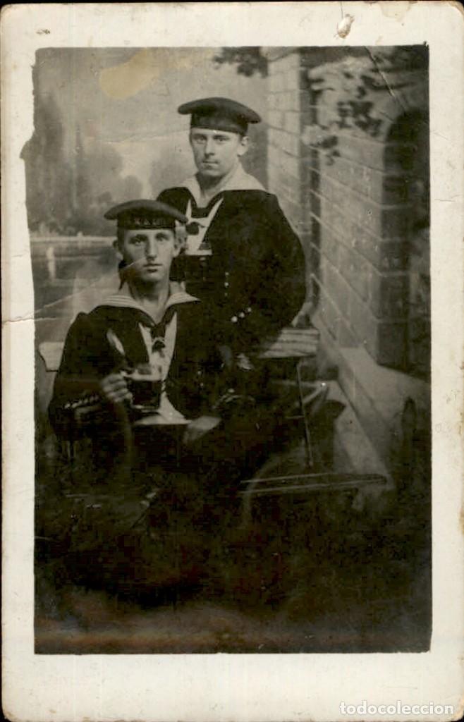 ORIGINAL - FOTOGRAFÍA POSTAL MARINEROS ALEMANES.KRIEGSMARINE. I GUERRA MUNDIAL. ALEMANIA - (Militar - Fotografía Militar - I Guerra Mundial)