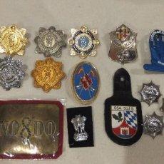 Militaria: LOTE DE PLACAS METALICAS POLICIALES. Lote 187585265