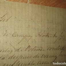 Militaria: MANUSCRITA CARTA NICOLAS GIL 1890 MADRID , SIGLO XIX. Lote 187652547