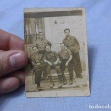 Militaria: * ANTIGUA FOTOGRAFIA DE MILICIANOS CON CABO REPUBLICANO DE ZONA DE VALENCIA, GUERRA CIVIL. ZX. Lote 187758471