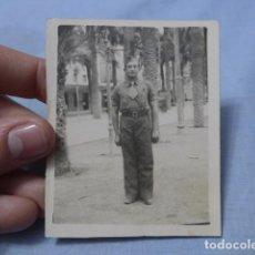 Militaria: * ANTIGUA FOTOGRAFIA DE MILICIANO REPUBLICANO CON LAZO, DE ZONA DE VALENCIA, GUERRA CIVIL, ZX. Lote 187761245