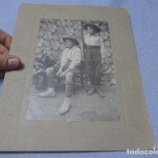 Militaria: * ANTIGUA FOTOGRAFIA DE BOY SCOUTS ESPAÑOLES, DEDICADA, ORIGINAL, BOYSCOUTS. ZX. Lote 187794586