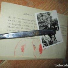Militaria: FOTO Y DOCUMENTO MEDICO REAVILITACION POR VALA DE HEROE ALFEREZ EN GUERRA CIVIL. Lote 188584506