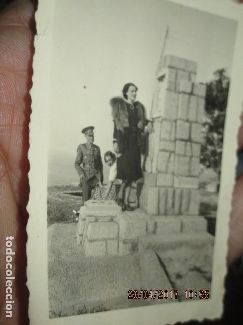 CAPITAN ESCOMBATIENTE GUERRA CIVIL EN CEUTA MONUMENTO O PANTEON DE CEMENTERIO (Militar - Fotografía Militar - Guerra Civil Española)