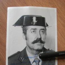 Militaria: FOTOGRAFIA FIRMADA Y DEDICADA POR EL TENIENTE CORONEL TEJERO MOLINA.. 23-F.. Lote 188748893
