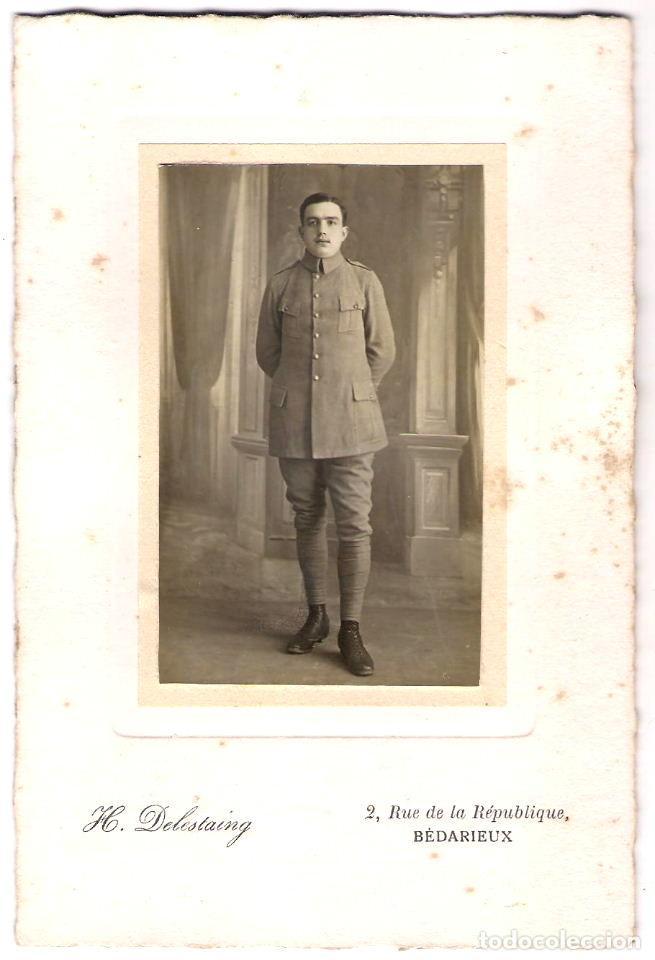 FOTOGRAFÍA DE MILITAR - FOTÓGRAFO: H. DELESTAING - BÈDARIEUX - FRANCIA - S.XIX.- XX (Militar - Fotografía Militar - Otros)