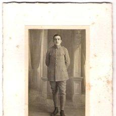 Militaria: FOTOGRAFÍA DE MILITAR - FOTÓGRAFO: H. DELESTAING - BÈDARIEUX - FRANCIA - S.XIX.- XX. Lote 188776887