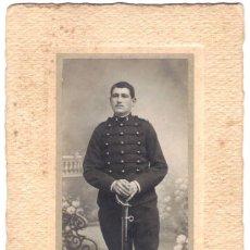 Militaria: FOTOGRAFÍA DE UN MILITAR - FOTÓGRAFO: P. LAGRANGE - BOURGES - FRANCIA - S.XIX.. Lote 188777168
