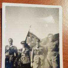 Militaria: FOTOGRAFIA GUERRA DE MARRUECOS OFICIALES CON BANDERA. Lote 189229276