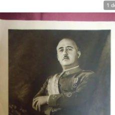 Militaria: RETRATO OFICIAL DE FRANCISCO FRANCO . JEFE DEL ESTADO 1936 1975. Lote 189583722
