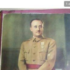 Militaria: RETRATO OFICIAL FRANCISCO FRANCO . FOTO JALÓN. AÑOS 40. Lote 189583825