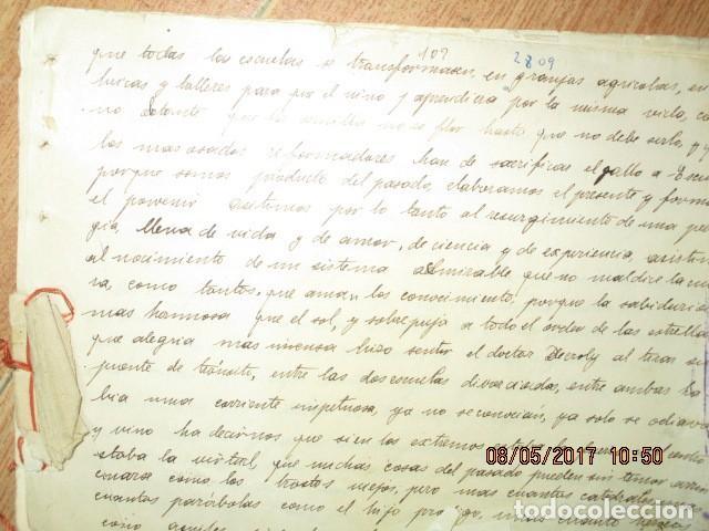 Militaria: manuscrito LIBRO INEDITO CARLOS HERRERO sobre la sociedad escuelas españa post guerra civil - Foto 2 - 189603842