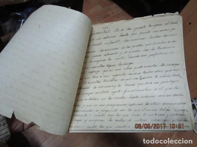 Militaria: manuscrito LIBRO INEDITO CARLOS HERRERO sobre la sociedad escuelas españa post guerra civil - Foto 3 - 189603842
