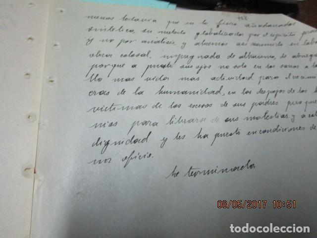 Militaria: manuscrito LIBRO INEDITO CARLOS HERRERO sobre la sociedad escuelas españa post guerra civil - Foto 5 - 189603842