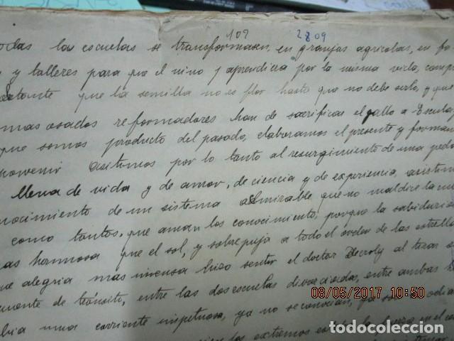 Militaria: manuscrito LIBRO INEDITO CARLOS HERRERO sobre la sociedad escuelas españa post guerra civil - Foto 6 - 189603842