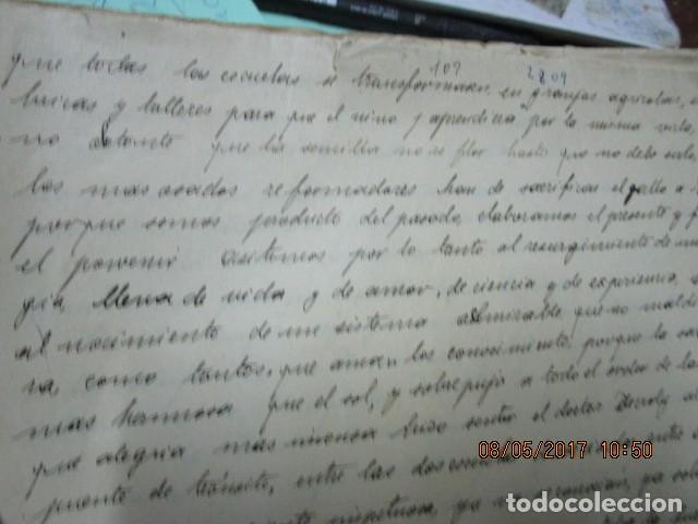 Militaria: manuscrito LIBRO INEDITO CARLOS HERRERO sobre la sociedad escuelas españa post guerra civil - Foto 7 - 189603842