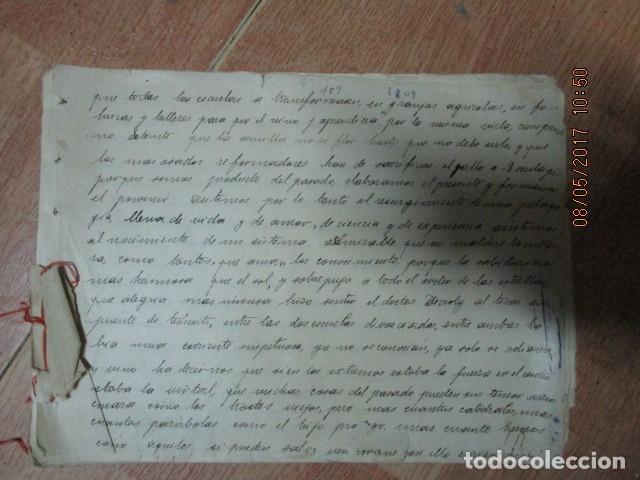 Militaria: manuscrito LIBRO INEDITO CARLOS HERRERO sobre la sociedad escuelas españa post guerra civil - Foto 8 - 189603842