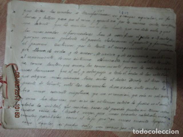 Militaria: manuscrito LIBRO INEDITO CARLOS HERRERO sobre la sociedad escuelas españa post guerra civil - Foto 9 - 189603842