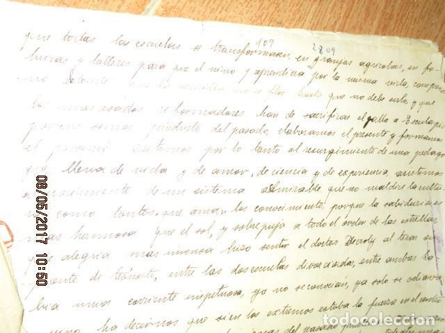 Militaria: manuscrito LIBRO INEDITO CARLOS HERRERO sobre la sociedad escuelas españa post guerra civil - Foto 10 - 189603842
