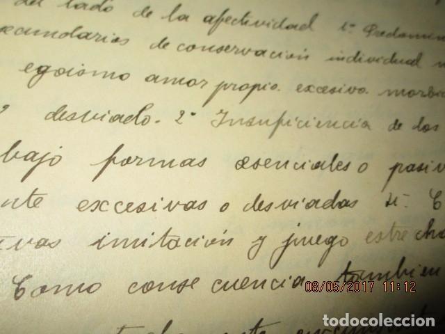 Militaria: manuscrito LIBRO INEDITO CARLOS HERRERO sobre la sociedad escuelas españa post guerra civil - Foto 11 - 189603842