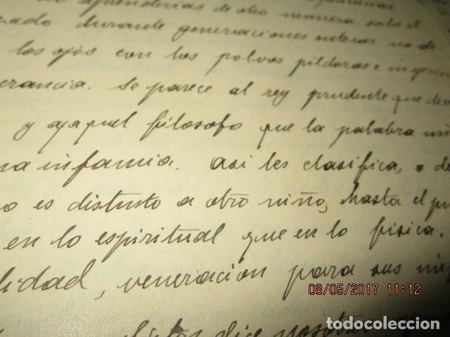 Militaria: manuscrito LIBRO INEDITO CARLOS HERRERO sobre la sociedad escuelas españa post guerra civil - Foto 14 - 189603842