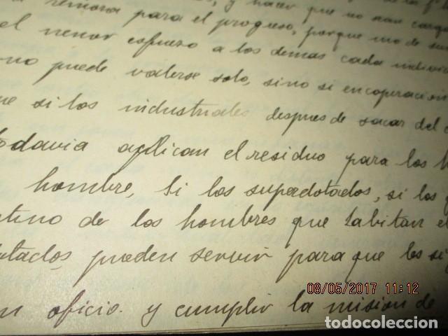 Militaria: manuscrito LIBRO INEDITO CARLOS HERRERO sobre la sociedad escuelas españa post guerra civil - Foto 16 - 189603842