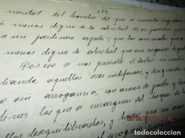 Militaria: manuscrito LIBRO INEDITO CARLOS HERRERO sobre la sociedad escuelas españa post guerra civil - Foto 17 - 189603842