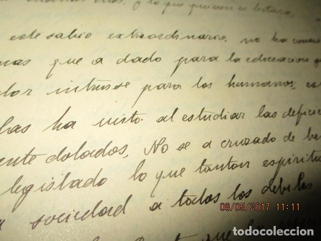 Militaria: manuscrito LIBRO INEDITO CARLOS HERRERO sobre la sociedad escuelas españa post guerra civil - Foto 18 - 189603842
