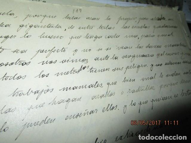 Militaria: manuscrito LIBRO INEDITO CARLOS HERRERO sobre la sociedad escuelas españa post guerra civil - Foto 19 - 189603842