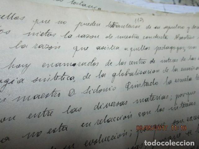 Militaria: manuscrito LIBRO INEDITO CARLOS HERRERO sobre la sociedad escuelas españa post guerra civil - Foto 20 - 189603842