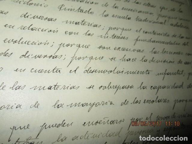 Militaria: manuscrito LIBRO INEDITO CARLOS HERRERO sobre la sociedad escuelas españa post guerra civil - Foto 21 - 189603842