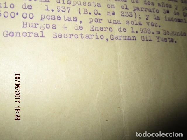 Militaria: burgos ORDEN TENIENTE GENERAL MEDALLA SUFRIMIENTO HERIDO vala FRENTE de ARAGON 1937 GUERRA CIVIL - Foto 3 - 138742774