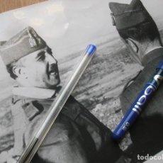 Militaria: RARA FOTOGRAFIA DEL CAUDILLO GENERALISIMO FRANCO. GUERRA CIVIL. GRAN FORMATO.. Lote 189741387